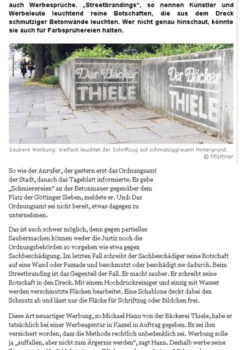 Dreck weg mit System: Göttinger Tageblatt