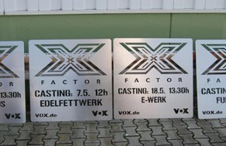 X-Factor Streetbranding